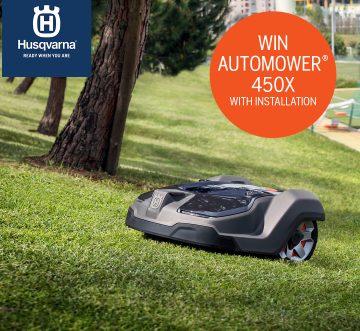 Chance to win a Husqvarna Automower 450X Worth £3,200