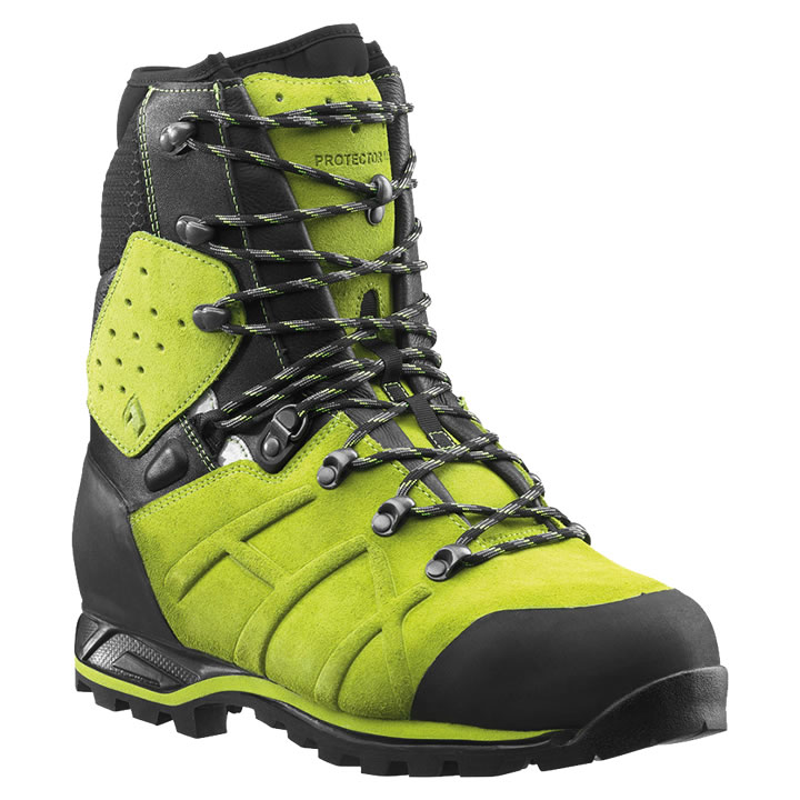 c3cdc71286c Haix Protector Ultra Lime Green Chainsaw Boots Class 2