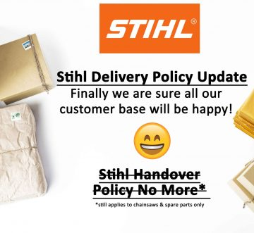 STIHL HANDOVER DELIVERY POLICY UPDATE