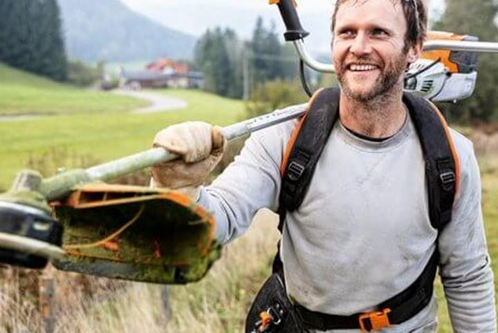 How To Use A STIHL Brushcutter Harness To Make The Job Easier